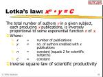lotka s law x n y c