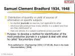 samuel clement bradford 1934 1948