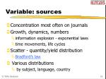 variable sources
