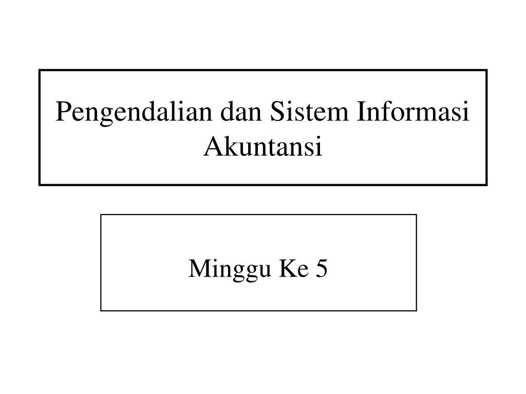 pengendalian dan sistem informasi akuntansi l.