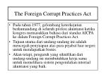 the foreign corrupt practices act