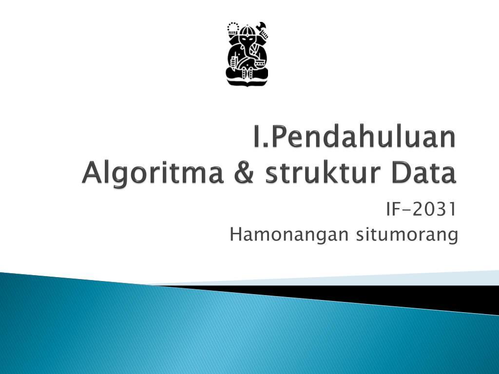 i pendahuluan algoritma struktur data l.