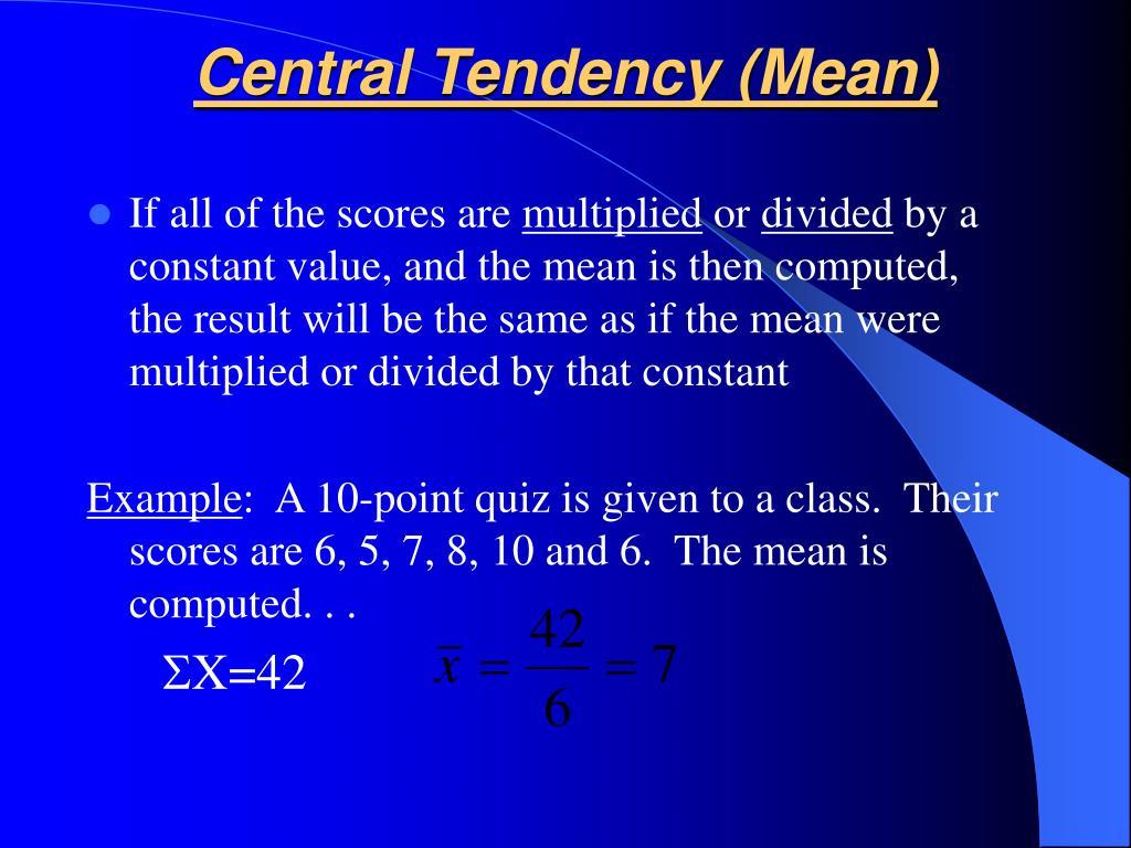 central tendancy