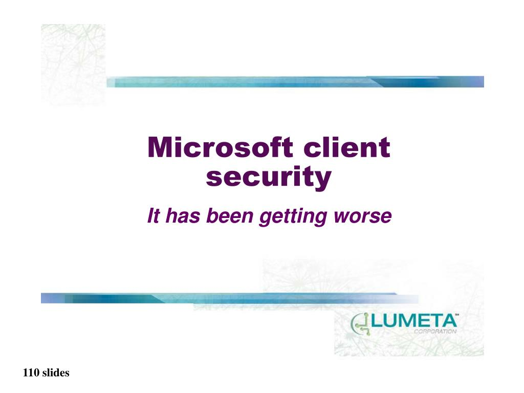 Microsoft client security