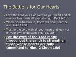 the battle is for our hearts