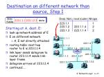 destination on different network than source step 1