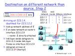 destination on different network than source step 2