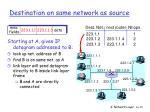destination on same network as source