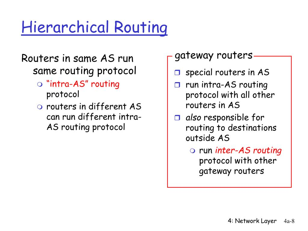 Routers in same AS run same routing protocol