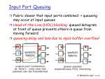 input port queuing