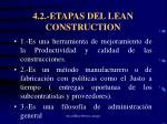 4 2 etapas del lean construction