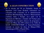 4 lean construction