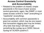 access control granularity and accountability