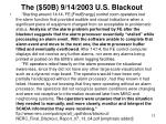 the 50b 9 14 2003 u s blackout