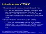 indicaciones para vytorin