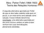 mary parker follet 1868 1933 teoria das rela es humanas37