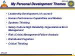 my personal development themes