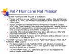 voip hurricane net mission