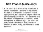 soft phones voice only