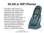 wlan or wifi phones