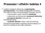 prosesser i effektiv ledelse 4