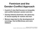 feminism and the gender conflict approach