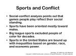 sports and conflict