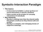 symbolic interaction paradigm
