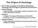the origins of sociology