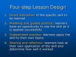 four step lesson design