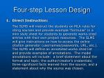 four step lesson design1