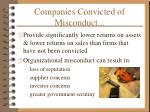companies convicted of misconduct