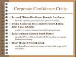 corporate confidence crisis