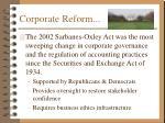 corporate reform
