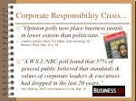 corporate responsibility crisis