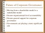 future of corporate governance