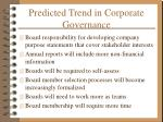 predicted trend in corporate governance