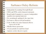sarbanes oxley reform