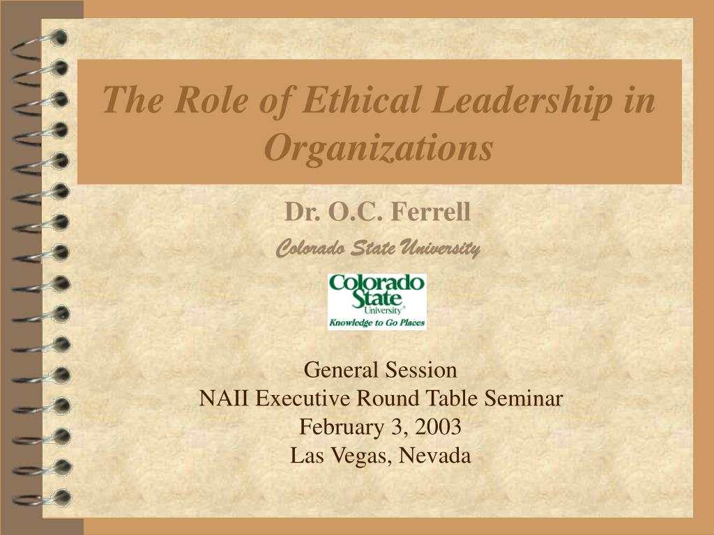 the role of ethical leadership in organizations l.