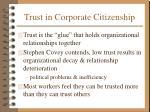 trust in corporate citizenship