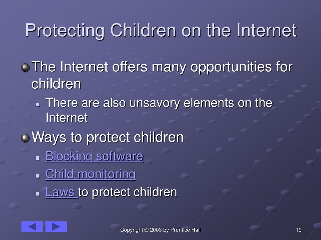 Protecting Children on the Internet