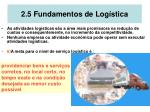 2 5 fundamentos de log stica