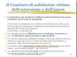il comitato di solidariet vittime dell estorsione e dell usura