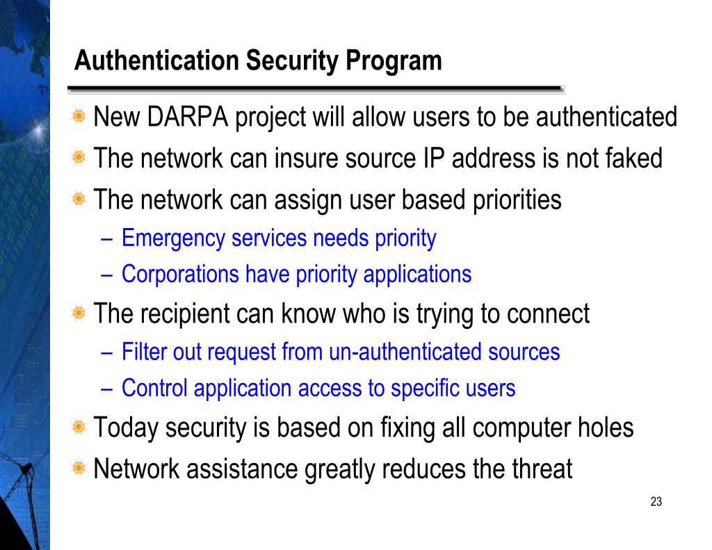 Authentication Security Program
