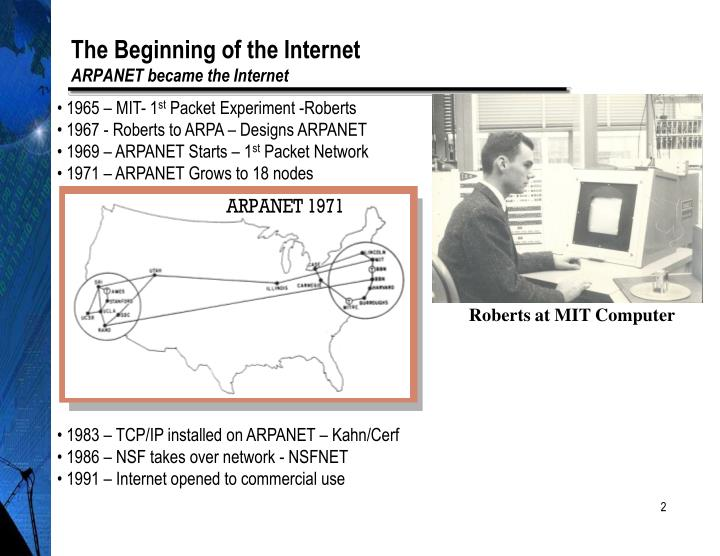 The beginning of the internet arpanet became the internet