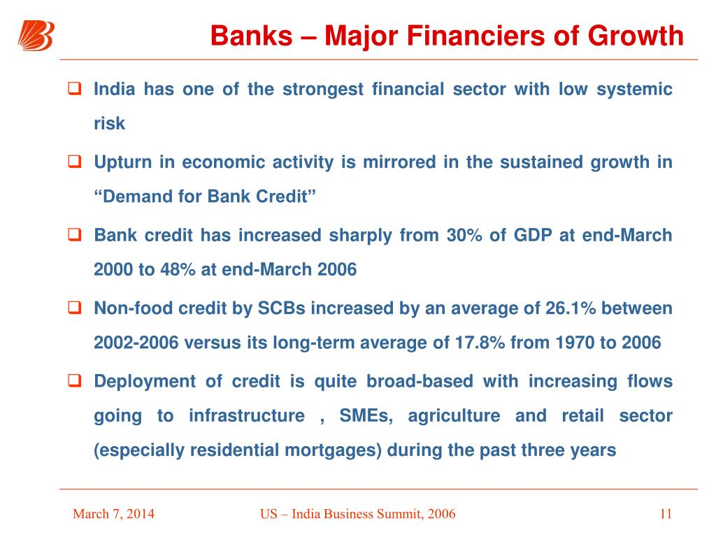India has one of the strongest financial sector with low systemic risk