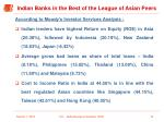indian banks in the best of the league of asian peers