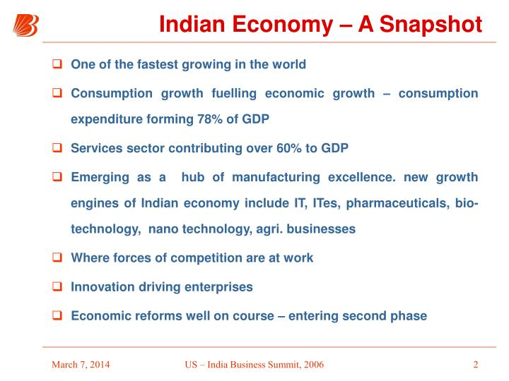 Indian economy a snapshot