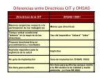 diferencias entre directrices oit y ohsas