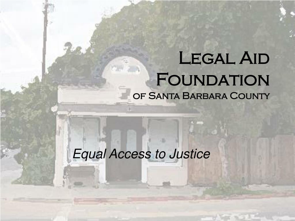 legal aid foundation of santa barbara county l.